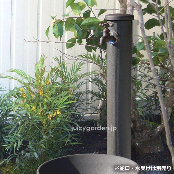 陶器の立水栓 丸